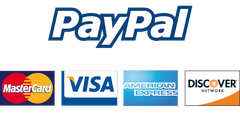 Schmidt Construction accepts VISA, Mastercard, American Express and Discover via PayPal